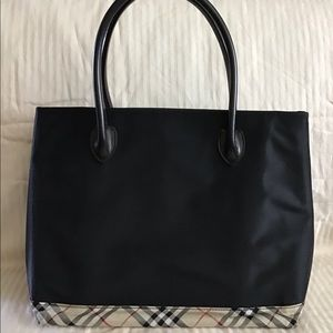 Burberry London blue label small tote